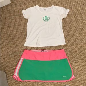 "Nike Tennis Outfit SZ. M ""Hit Like a Girl"""